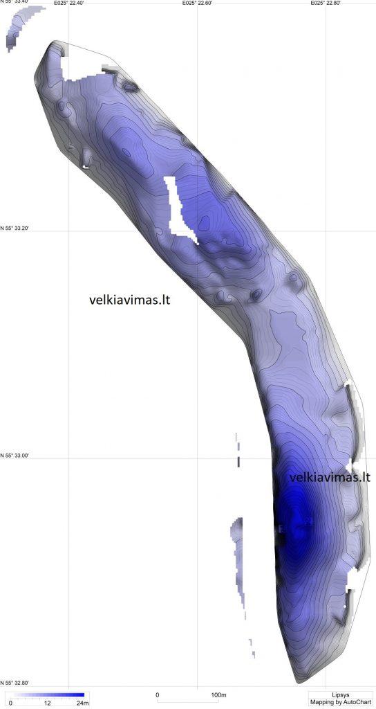 lipsys batimetrinis zemelapis (planas)